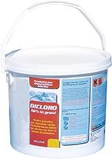 New Plast 3012 - Dicloro in Grani ad Azione Rapida per Acqua Piscina, Fustino 5 kg