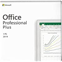 Microsoft office Professional Plus 2019 for 1 Windows PC- Lifetime Validity( Activation Key card)