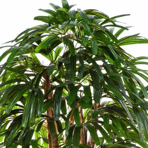 artplants – Künstliche Steckenpalme Nathaniel, 120 cm – naturgetreue Kunstpalme/Künstliche Palme