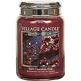 Marrone 10.3x10.1x10.9 cm Village Candle Brownie Delight Vaso di Vetro Piccolo