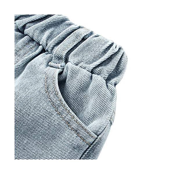LAPLBEKE Bebé Niño Vaqueros Rotos Jeans Denim Rasgado Ripped Pantalones con Cintura Elástica Primavera Otoño 3