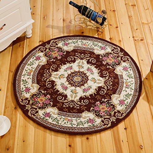 JHDT RundeTeppich Vorleger Runder Teppich chinesisches Wohnzimmer runder Teppich Jacquard Teppich Durchmesser 200cm maschinenwaschbar runde Decke Orientteppich (Farbe : 7#) (Chinesische Teppich)