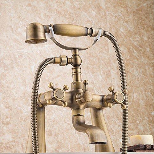 NIHE Ensemble de baignoire antique Robinet de douche Robinet Robinet de salle de bains Robinet de bain avec douche à main Robinet de douche