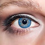 KwikSibs farbige Kontaktlinsen, hellblau, 3-farbig, weich, inklusive Behälter, BC 8.6 mm/DIA 14.0/-0,75 Dioptrien, 1er Pack (1 x 2 Stück)
