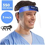 (Made in India) Fitup Life 350 Micron Fluid Resistant Clear Full Face Shield