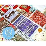 80feuilles en film bordures coloré sticker Vivid Color Decor Décoration peau Message Mémo pour Mini Film Fujifilm Instax Mini 8/Instax Mini 7s/Instax Mini 25/Instant Mini 50s/instantané Mini 90Film–Colorful
