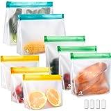 Meowoo Herbruikbare Vriezer Tassen Voedselzakken Grote Dikke Lekvrije Sandwich Snacks Bags,Herbruikbare Voedselopslag en Cont