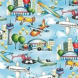 airpoet Flugzeuge Stoff–Planes Flughafen