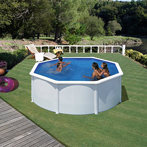 Gre KIT300ECO- Piscina Fidji desmontable redonda de acero color blanco Ø300x120 cm