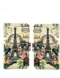 LG LEON H340N nouveau luxe Portefeuille en cuir de première espèce Mobile LG LEON H340N Couvrir Wallet Book Cas (France Book)