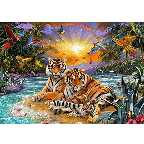 Malerei Speziell geformt Tiger Cat Diamond Painting Teil Diamant Malerei Kreuzstich Haus Wanddekoration Wohnzimmerwandaufkleber Arts Craft Decor ()