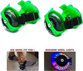 Wembley Toys Street Gliders Roller Skates, LED Light-up Wheels (2 Wheels) (Green)