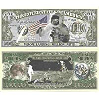 Novelty Dollar Moon Landing Apollo 11 20th July 1969 Lunar Module Eagle Million Dollar Bills x2