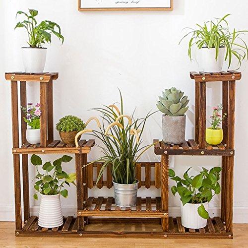 ZCJB Etagères de plantes Fleur Étagère Intérieur Ménage Salon Balcon Entrée Bois Massif Multicouche Multifonctionnel En Bois (Couleur : Style1)