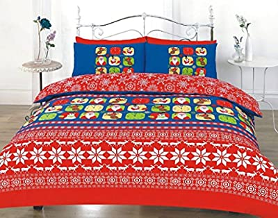 Duvet cover set christmas stag floral dotted printed quilt bedding sets new - low-cost UK light store.