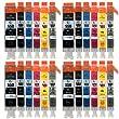 Go Inks C-550/551-6SET-4 Pack de 24 Cartouches d'encre compatible avec Imprimante PGI-550PGBk/CLI-551Bk/CLI-551C/CLI-551M/CLI-521Y/CLI-551Gy Noir/Cyan/Magenta/Jaune/Gris