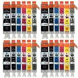 Go Inks C-550 & C-551 Cartouches d'encre Compatible pour remplacer Canon PGI-550 &...