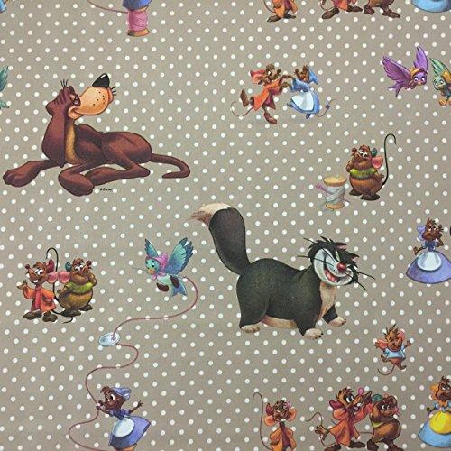 Disney Mäuse–Neuheit Premium Grade 100% Baumwolle feines Gewebe Kinder Vorhang Betten Stoff 140cm breit, Meterware, (Bettwäsche Baumwolle Mini Aus Stripe)