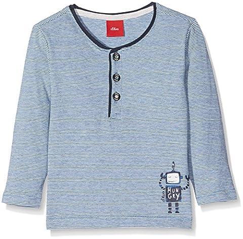 s.Oliver Baby-Jungen Spieler T-Shirt Langarm Grau (Grey/Black Aop 90B2), 86