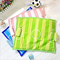 Generic green, L : 2017 Fashion Football Game Striped Mat Waterloo for Pet Dog Cat Pink Blue Green S L