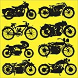 Posterlounge Tableau en Bois 70 x 70 cm: Motorbikes de Editors Choice