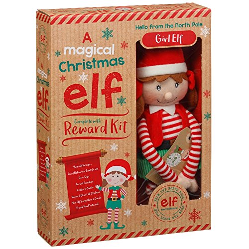 Magico Natale peluche elfo con kit di ricompensa Girl Elf