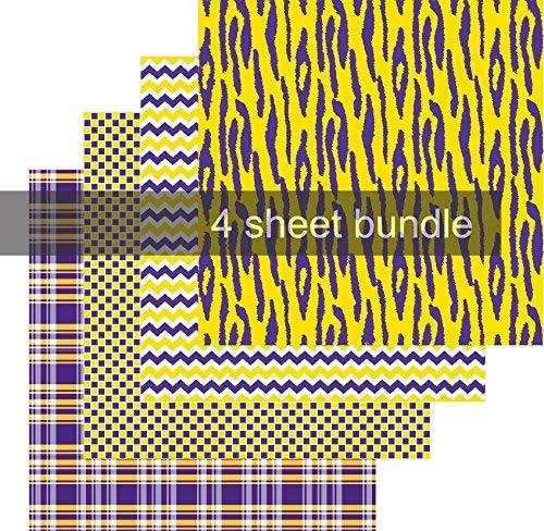 Vinylfolien-Set mit Vinyl, Motiv Tiger, 10,2 x 30,5 cm, inkl. Transferfolie Tiger Chevron Print
