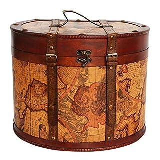 aubaho Hat box 40cm antique style vintage bandbox decoration