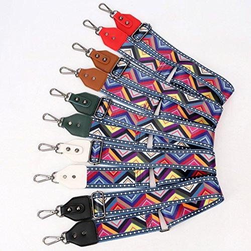 Umily 82-125cm schultergurt breiter schultergurt/ schulterriemen handtaschen/schulterriemen bunt für schulterriemen tasche, Tragetaschen und Handtaschen Silberner Haken Braun