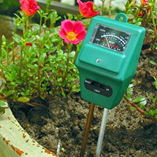A-SZCXTOP Vktech 3in1/Feuchtigkeits-Messgerät PH-Wert-Tester, digital, mit Beleuchtung