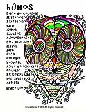 búhos Libro de colorear Misterioso Fantástico para Niños adultos Adolescentes Los jubilados Mayor para Casa Colegio Hospital Asilo de ancianos lados por surrealista Artista Grace Divine