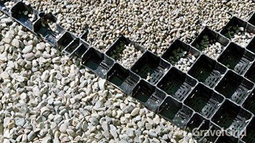 13 m² =20 Platten Kiesgitter Gravel Grid mit Bodenkreuz Anthrazit