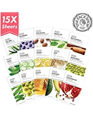 The Face Shop Real Nature Facial Mask Sheets (Pack of 15)