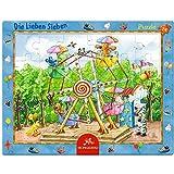 The Friendly Seven Die Lieben Sieben 24Stück auf der Fun Fair Rahmen Puzzle, 37x 29cm, Modell # 11913
