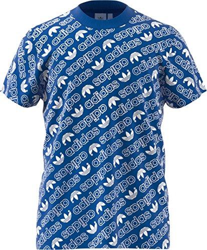 adidas AOP tee Camiseta, Hombre, Azul (Azul), M