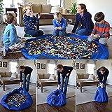 Generic S, grün: tragbar Kinder Spielzeug Aufbewahrungstasche LD Baby Krabbeldecke Groß Aufbewahrung Staubbeutel Toys Organizer Decke Teppich Boxen für LEGO Toys 42/140