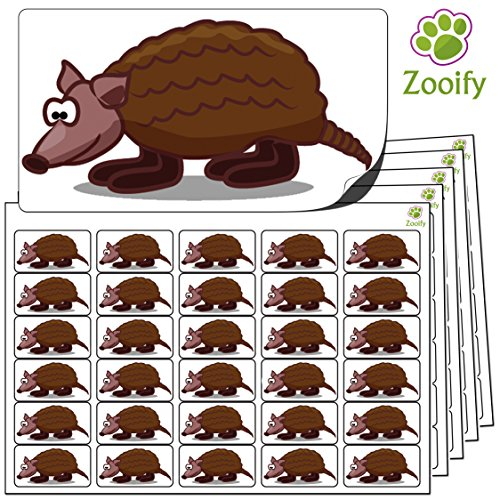 480x-armadillo-stickers-38-x-21mm-high-quality-self-adhesive-animal-labels-by-zooify