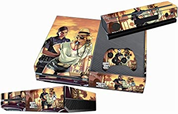 Elton GTA V Grand Theft Auto 5 Theme Skin Sticker Cover for Xbox One Console, Kinect & Controllers (Multicolor)