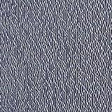 Fabulous Fabrics Strickstoff Jacquard Melange – Blau —