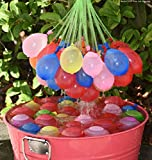 #5: Original Holi Water Balloons / Multcolor Magic Water Balloon Maker - 3 Pack - 111 Balloons in Total- Fill & Tie the Whole Bunch of Water Balloons in Just 60 Seconds - No More Struggle or Hassle - Great Holi Festival And Outdoor Water Sports Fun! ( FREE TAP Nozzel)