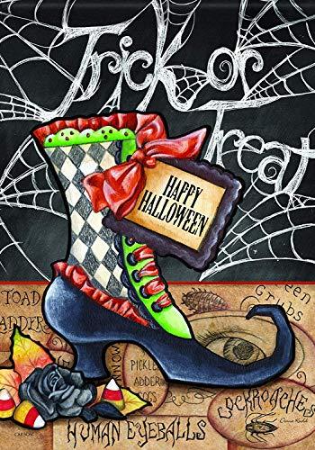 (Yosbapw s Halloween Boot Trends Glitter Garden Flag)