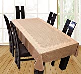 #4: Yellow Weaves™ Designer Dining Table Cover Net Fabric 60x90 Inches (Brown)