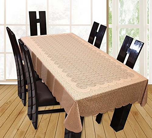 Yellow Weaves™ Designer Dining Table Cover Net Fabric 60x90 Inches (Brown)