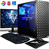 VIBOX Sniper 10XW Gaming PC Computer mit Spiel Bundle, Windows 10 OS, 22 Zoll HD Monitor (4,3GHz Intel i5 6-Core Prozessor, Nvidia GeForce GTX 1060 Grafikkarte, 16Go DDR4 RAM, 120GB SSD, 2TB HDD)