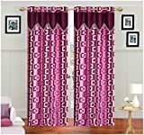 Divine Decor 2 Piece Polyester Door Curt...