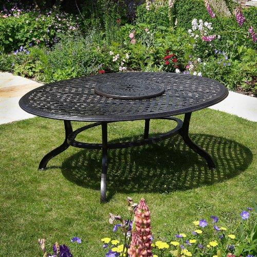 Summer 195 x 145cm Ovales Gartenmöbelset - 1 SUMMER Tisch + 8 MARY Stühle