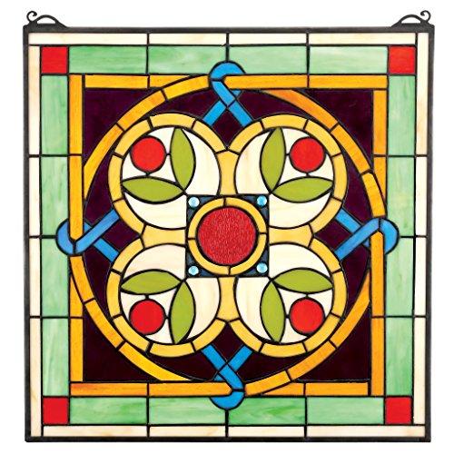 Glasmalerei-panels Tiffany (Buntglas-Panel - Celtic Blumen Quatrefoil Buntglas-Fenster Behang - Fensterbehandlungen)