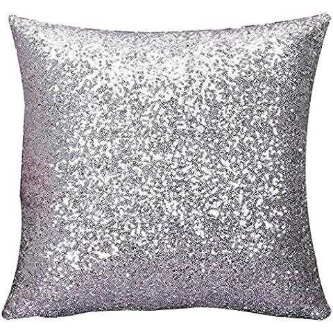 Amortiguador del hogar Decoración, FEITONG Solid Color Glitter Sequins Throw Pillow Case Cafe Home Decor Cushion Covers (de