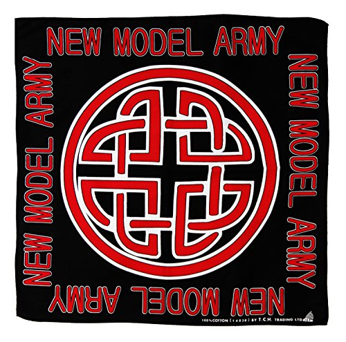 Tuch New Model Army Keltischer Knoten Muster Kopftuch Bandana Halstuch Biker Sport Kopfbedeckung ca. 51 x 51 cm Einseitig bedruckt