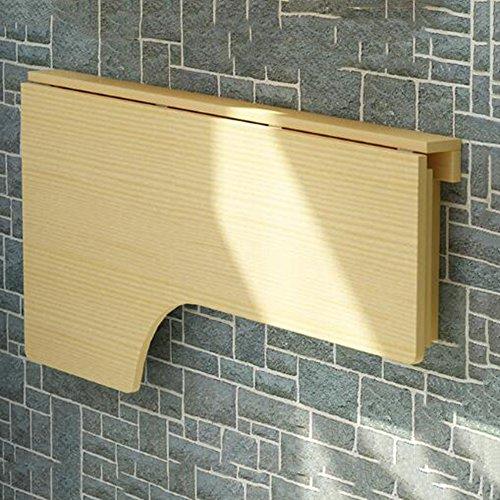 Möbel L-förmige Computer (JU FU Massivholz Corner Computer Schreibtisch Wand Tisch Klapptisch L-förmige Tisch Wandtisch Computer Learning Desk Optionale Größe | (Farbe : Clear Paint, größe : 140 * 60))